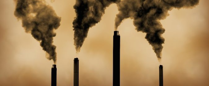 Coal-fired power plant emissions from tall stacks