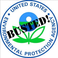 "EPA Logo with ""Busted"" superimposed"